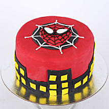 Round Fondant Spiderman Cake: Cake Delivery in Kalyan