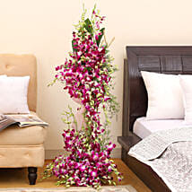 Royal Purple Orchid Arrangement: Orchids