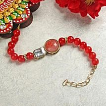 Ruby Bracelet Rakhi: Send Rakhi to Amalapuram