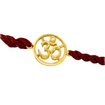 Sacred Om Gold N Diamond Rakhi: Rakhi to Shajapur