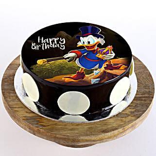 Scrooge McDuck Chocolate Photo Cake: Send Cartoon Cakes