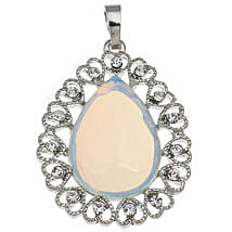 Sea Opal light blue Teardrop Pendants: Send Jewellery Gifts