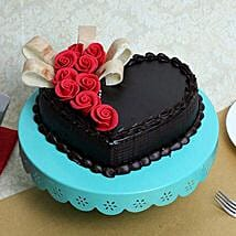 Semi Fondant Heart Cake: Send Heart Shaped Cakes
