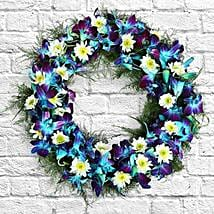 Serene Flower Wreath: Christmas Flowers