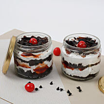 Set of 2 Sizzling Black Forest Jar Cake: Send Birthday Cakes to Agra