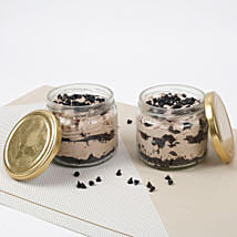 Set of 2 Vivacious Chocolate Jar Cake: Jar Cakes