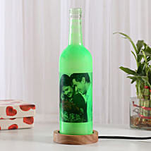 Shining Memory Personalized Lamp: Birthday Bottle Lamps