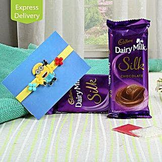 Silk Chocolate N Kids Rakhi: Rakhi - Same Day Delivery