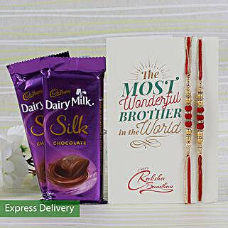 Silky Rakhi Combo: Rakhi Gifts to Pune
