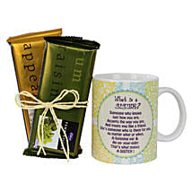 Sister Mug and Chocolates Combo: Raksha Bandhan Chocolates