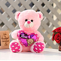 Small Heart Pink Color Teddy Bear: Gifts for Teddy Day