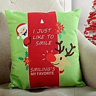Smiling Santa Christmas Cushion: Christmas Gifts For Wife