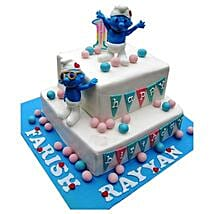 Smurfs Birthday Cake: Cartoon Cakes