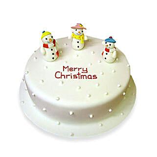 Snowy Christmas Cake: Send Christmas Giftsto Chennai