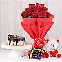 Softy Roses Hamper: Valentines Day Flower Bouquets