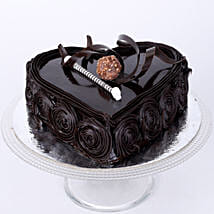 Special Floral Chocolate Cake: Romantic Heart Shaped Cakes