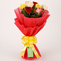Special Mixed Roses Bouquet: Valentine Flowers Indore