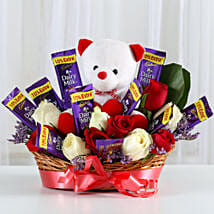 Special Surprise Arrangement: Send Flowers & Teddy Bears for Friendship Day