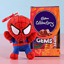 Spiderman Kids Rakhi & Cadbury Celebrations: Send Rakhi to Begusarai