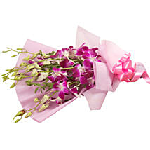 Splendid Purple Orchids: Diwali Gifts Bareilly