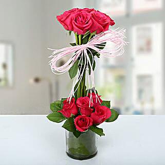 Splendid Rose Arrangement: Mothers Day Flowers Ahmedabad