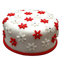 Star Filled Christmas Fondant Cake: Christmas Gifts for Her