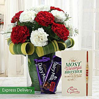 Strongest Rakhi Bond: Rakhi Flowers with Chocolates