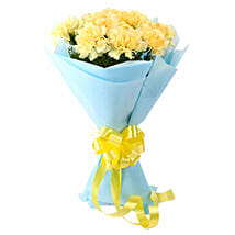 Sundripped Yellow Carnations Bouquet: Cakes to South-Garo-Hills