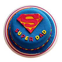 Super Dad Designer Cake: Eggless Cakes for Fathers Day