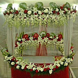 Superb Floral Ganapati Decoration: Flowers for Janmashtami