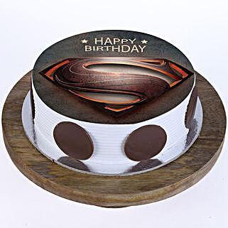 Superman Logo Photo Cake: Superhero Cakes