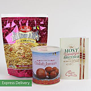 Sweet And Spicy Rakhi Combo: