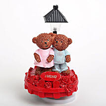 Sweet Friend Teddy Showpiece: Valentines Day Gifts Kota