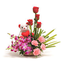 Sweet Inspiration: Flowers & Teddy Bears for Anniversary
