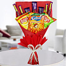 Chocolates & Snacks Bouquet: Chocolate Delivery in Gurgaon