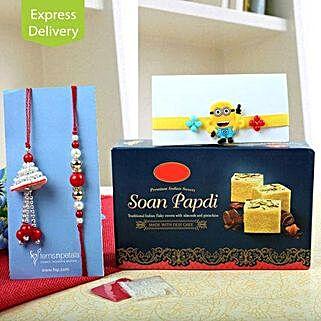Sweet Rakhi For Family: Rakhi - Same Day Delivery