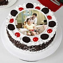 Tasty Black Forest Photo Cream Cake for Fathers Day: Cakes for Father's Day