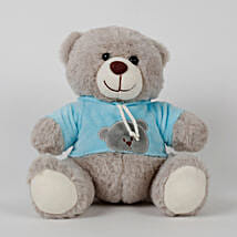 Teddy Bear With T Shirt Grey: Send Soft Toys
