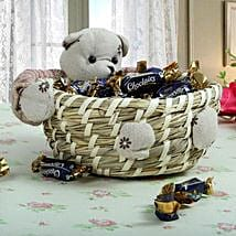 Teddy Brings The Hamper: Valentines Day Gift Baskets