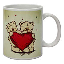 Teddy On The Mug: Heart Shaped Gifts for Valentines Day