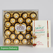 Tempting Choco Rakhi: Rakhi Gifts to Delhi