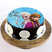 The Frozen Chocolate Photo Cake: Send Cartoon Cakes