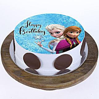 The Frozen Photo Cake: Send Cartoon Cakes