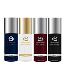 The Man Company Set of 4 Body Perfume: Valentines Day Gifts Guntur