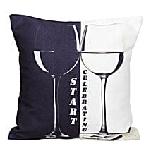The Start Celebrating Cushion: Home Decor for House Warming