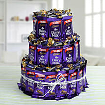 Dairy Milk Chocolate & Eclairs Arrangement: Diwali Gifts for Parents