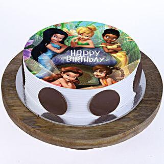 Tinkerbell Fairies Photo Cake: Cartoon Cakes