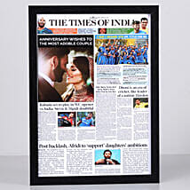 TOI Front Page Personalised Frame-Anniversary: Send Personalised Photo Frames for Her