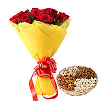 Token Of Gift: Fathers Day Flowers & Dryfruits