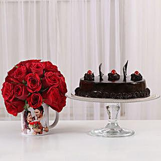 Truffle Cake & 20 Red Roses Mug: